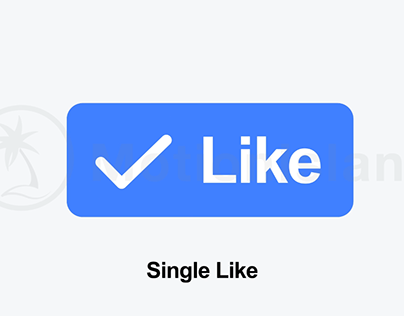 Facebook like button animation | After Effects template