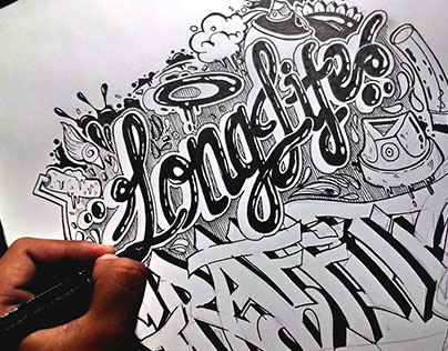 Illustration - God Bless and Longlife Graffiti Writers