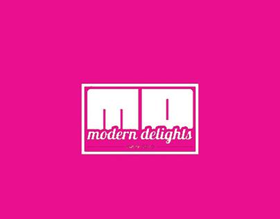 Logo and flyer design for modern delights