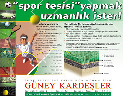 Gazete ilanı | Newspaper announcement | Güney Kardeşler