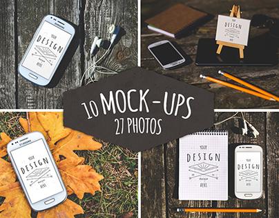 37 Pieces: 10 Mock-Ups & 27 Photos