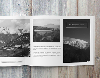 Minimalfolio Photography Portfolio A4 Brochure #5