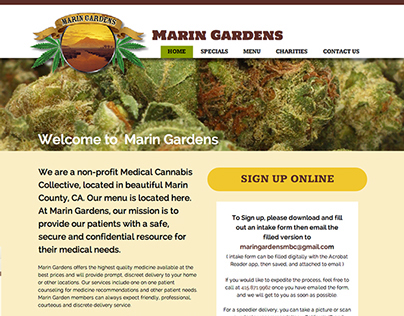 Marin Gardens Medical Cannabis Collective web site