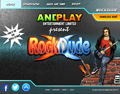 Rock Dude Game Design for AndPlay Entertainment Lmtd.