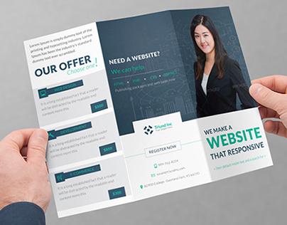 Triund Web Business Tri-Fold Brochure