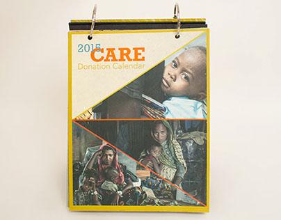 Nonprofit CARE donation calendar