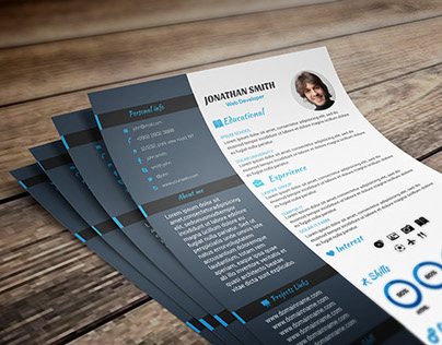 Infographic Resume Design Vol-1