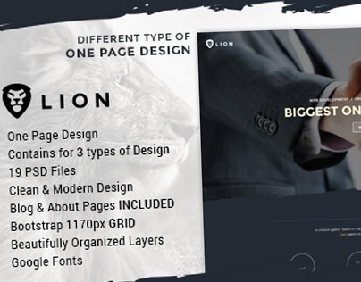 Lion - Multipurpose One Page Template