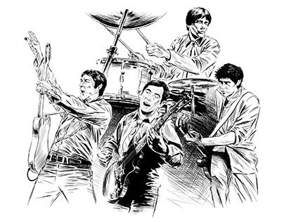 The Buzzcocks Band Illustration