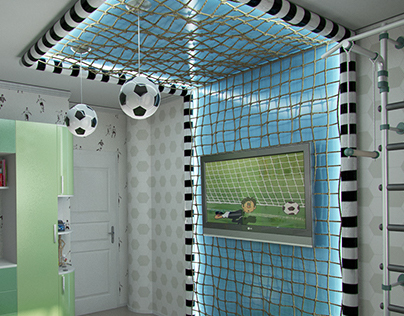 Design a child's room boy, a young football player