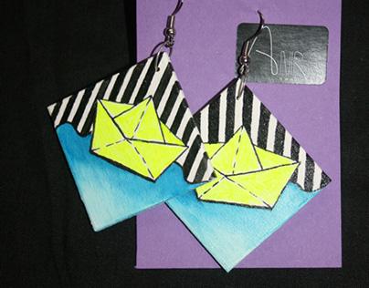 Hand made earrings - rucne robene malovane nausnice