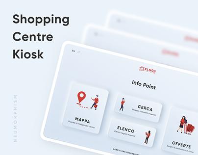 Elnos Shopping Centre Kiosk | Neumorphism UI