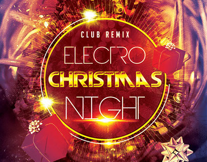 Electro Christmas Night Party Flyer