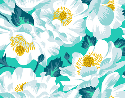 Mount Cook Lily Repeat Print