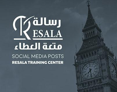 Social Media Designs - Resala Training Center