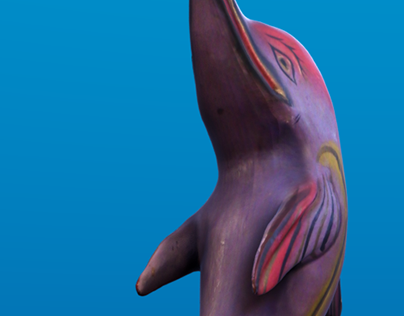 Realistic Dolphin Statue
