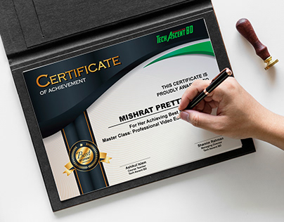 Awesome Certificate Design