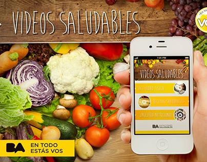 App Facebook Vídeos Saludables