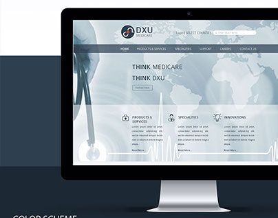 Website Design for Healthcare MNC