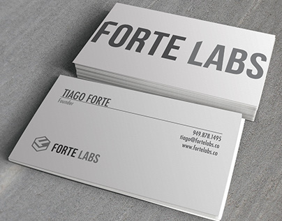 Forte Labs business card designs