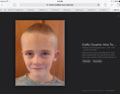 Short hair  for children (boy)