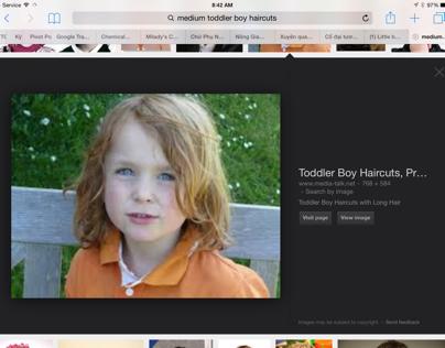 Long hair for children (boy)