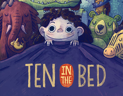Ten in the Bed Cover Illustration