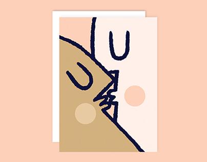 LOVE KISS – Greeting card