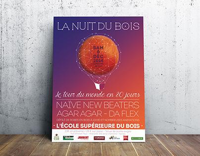 Poster - La Nuit du Bois - ESB Nantes