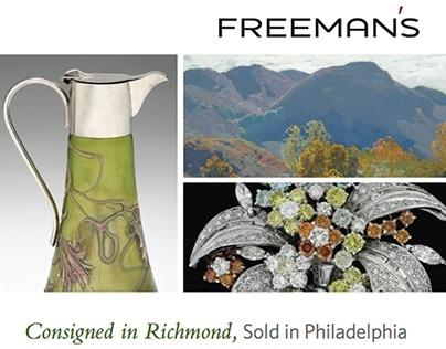 Freeman's - Print / Digital Advertisments