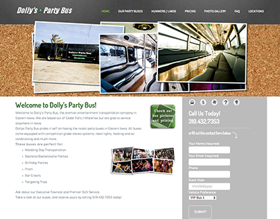 Joomla to WordPress Conversion   Dolly's Party Bus