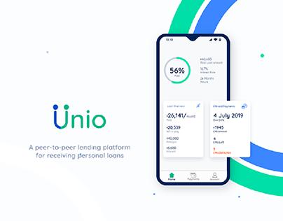 Unio • A P2P platform for receiving personal loans