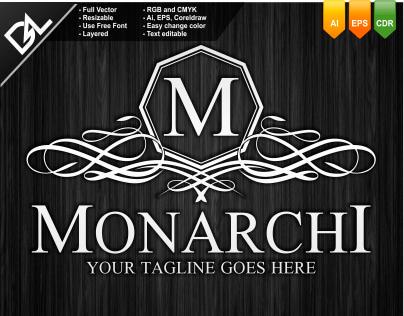 Monarchi Logo Template