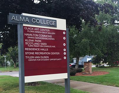 campus wayfaring signage