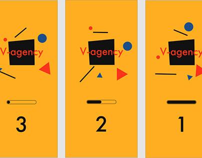 Мобильная версия сайта V-agency (Прелоадер)
