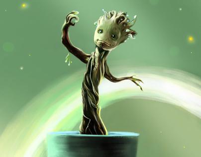 Baby Groot Illustration
