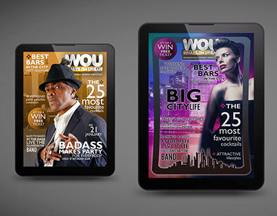 What's On Urban - Interactive Magazine Cover Layout