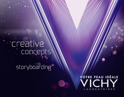 Creative concepts and storyboards for Vichy