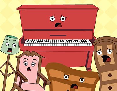 O Piano - Livro ilustrado