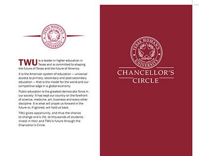 TWU Chancellor's Circle brochure