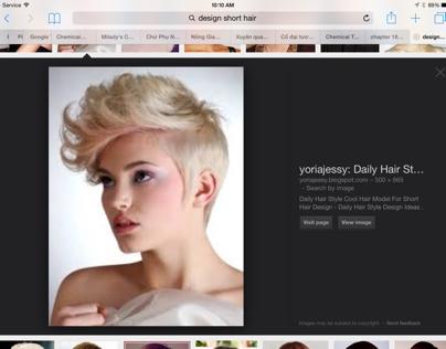 Design short hair