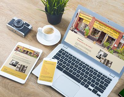 Antiquarian book shop | Web design