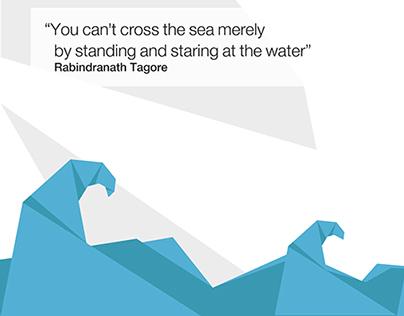 Nature, quotes & origami