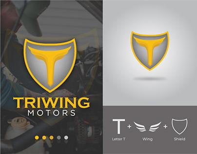 TRIWING Motors Logo   Car Servicing Logo