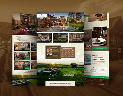 Website design for Hotel & Resort Oravský Háj