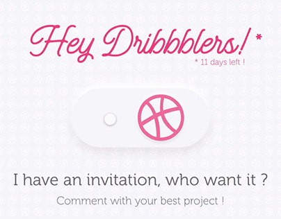 1 Dribbble invitation for you!!!