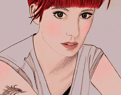 Illustration Ginger Girl