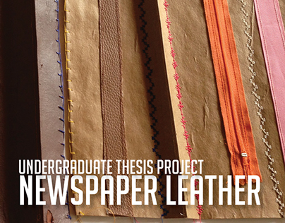 NEWSPAPER LEATHER - NEW MATERIAL PROTOTYPE