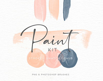 Paint Swatch and Daub Brush Kit By: Eclectic Anthology