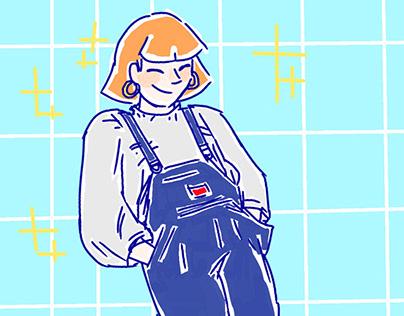 90's Fashion study